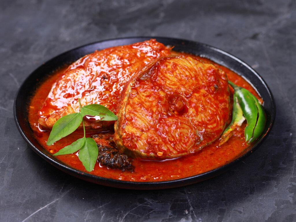 Fish Masala with naan Bradford